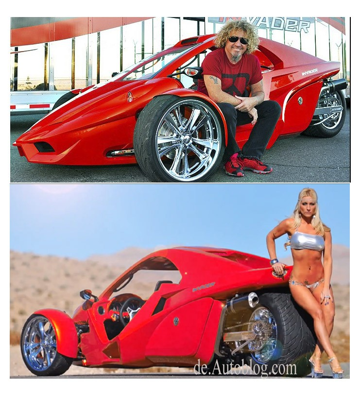 Sammy Hagar, Three wheeler, Sema, sexy, girls, I can't drive 55, Rock candy, eye vandy, Van Halen, Joe satriani, Washburn, Hagar, The red Rocker, Invader TC-3, Red Rocker Edition, Suzuki, Bike,   Tanom,