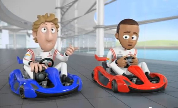 animation, Comic, Ep 10, Episode 10, F1, featured, Formel 1, Formel1, funny, Jenson Button, Lewis Hamilton, lustig, Mc, Mc Laren, Mc Laren Animation, Mc Laren tooned, McLaren, McLarenAnimation,  Teil 10,  Photo Finish, witzig, komisch ,funny, Abu Dhabi, Trickfim, Photo Finnish