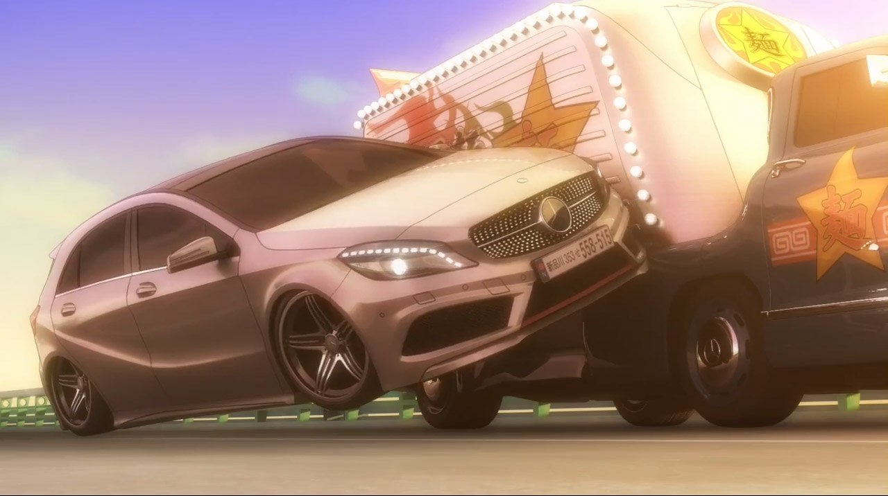   anime, manga, japan, blaues Wunder, Mercedes-Benz, NAK, neue A-Klasse, Trickfilm, witzig, comic, japanisch, car ad, autowerbung, funny, komisch, TV Spot, 