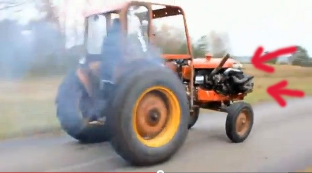 Trekker, Traktor, irre, crazy, funny, komisch, witzig, Tractor, video, turbo, turbo charged, Umbau, Tuner, Tuning