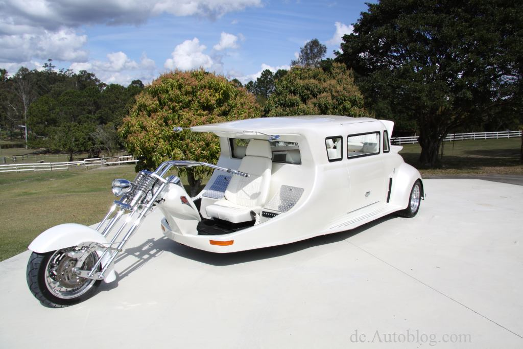 Harley Davidson, Harley Limo, Trike, funny car, funny bike, Bike, custom bike, funny, luistig, skurril, seltsam, einmalig, unikat, EMS, Essen Motor Show 2012