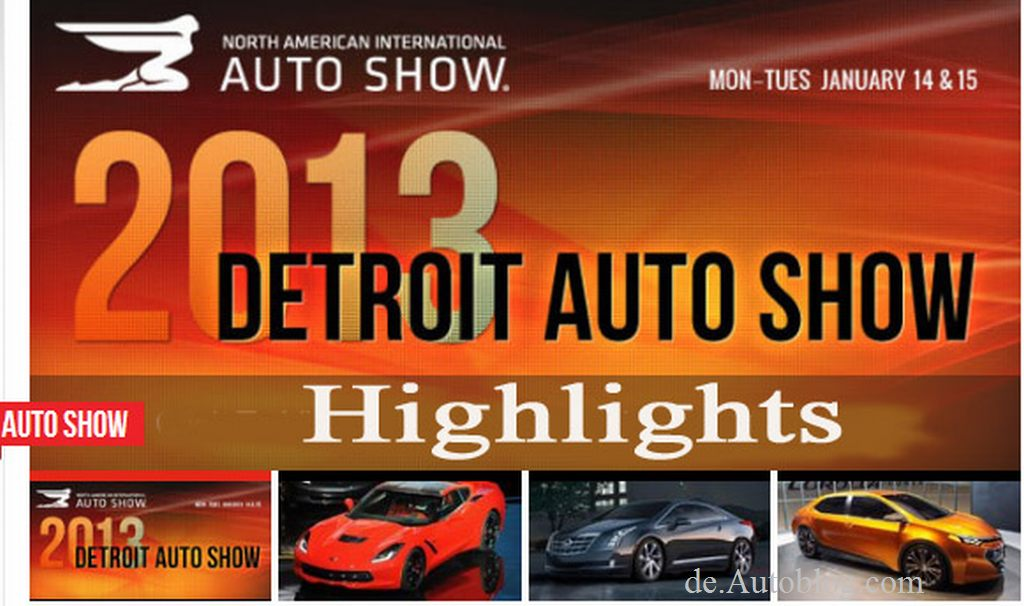 Detroit, Highlights, automesse, NAIAS 2013, Detroit Auto Show, Highlights, Rundgang,  Top, Corvette, CLA, Furia, C7.