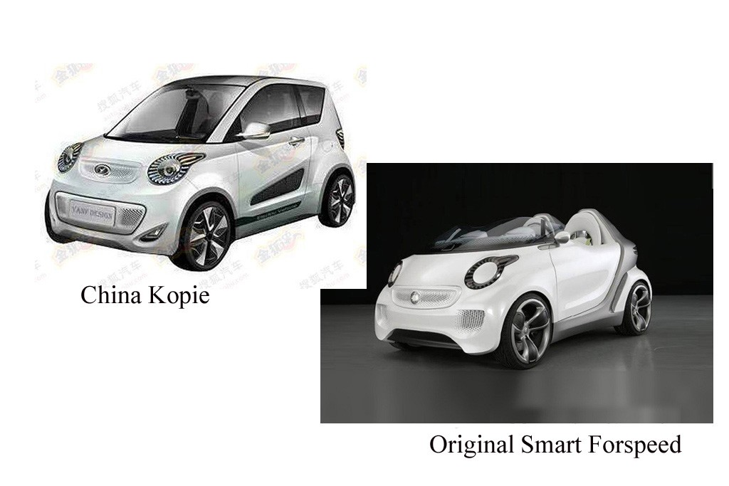 china, copy, imitat, plagiat, nachbau, Kopie, auto, Design, styling, klau, smart