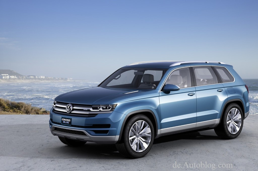 Siebensitzer, VW, breaking, Cross Blue, CrossBlue, debüt, Detroit, Hybrid, premiere, SUV, Tiguan, Touareg, unveiled, Volkswagen, VW, Crossover,