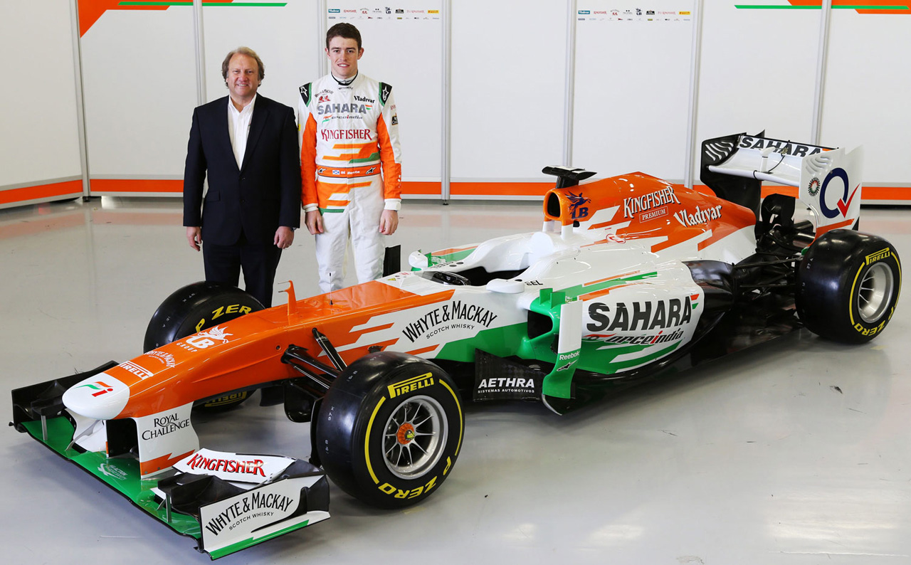 Paul di Resta, Force India, VJM06, VJMO6, Mercedes, Formel 1, F1, Sahara Force India, Präsentation, unveiled, Silverstone, 2013