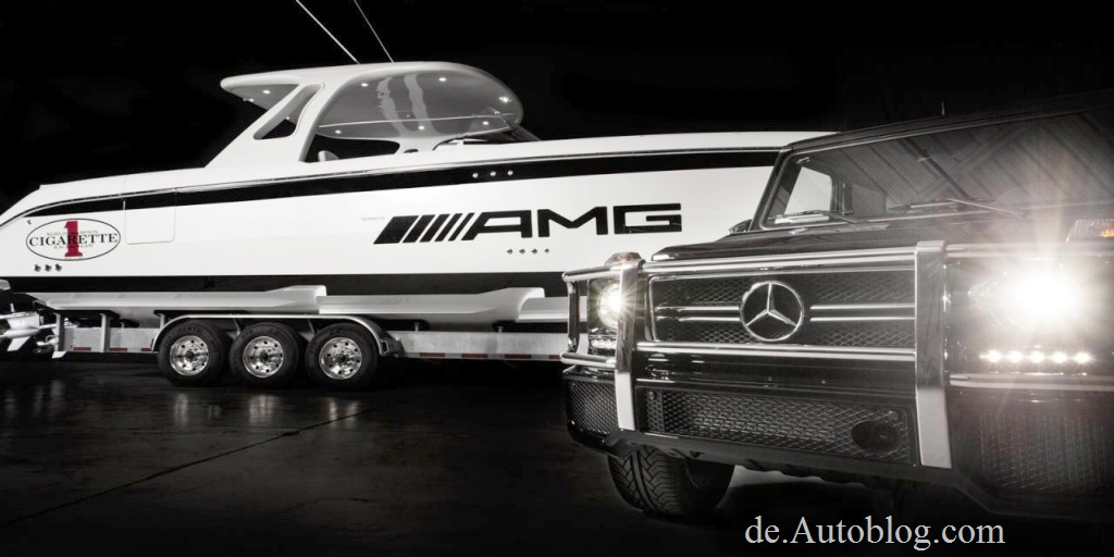 Mercedes AMG, G 63 AMG, Mercedes-Benz, 42 Huntress, Motorboot, speedboot,Speedboat, Yacht, Miami International Boat show, Cigarette Racing Team 