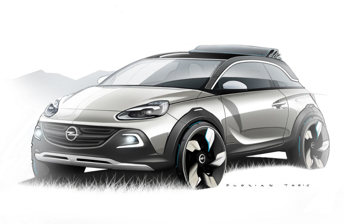 Opel Adam, Opel adam rocks, adam rocks, Genf, genfer auto salon, auto salon genf, Opel adam rocks concept, crossover, suv, weltpremiere