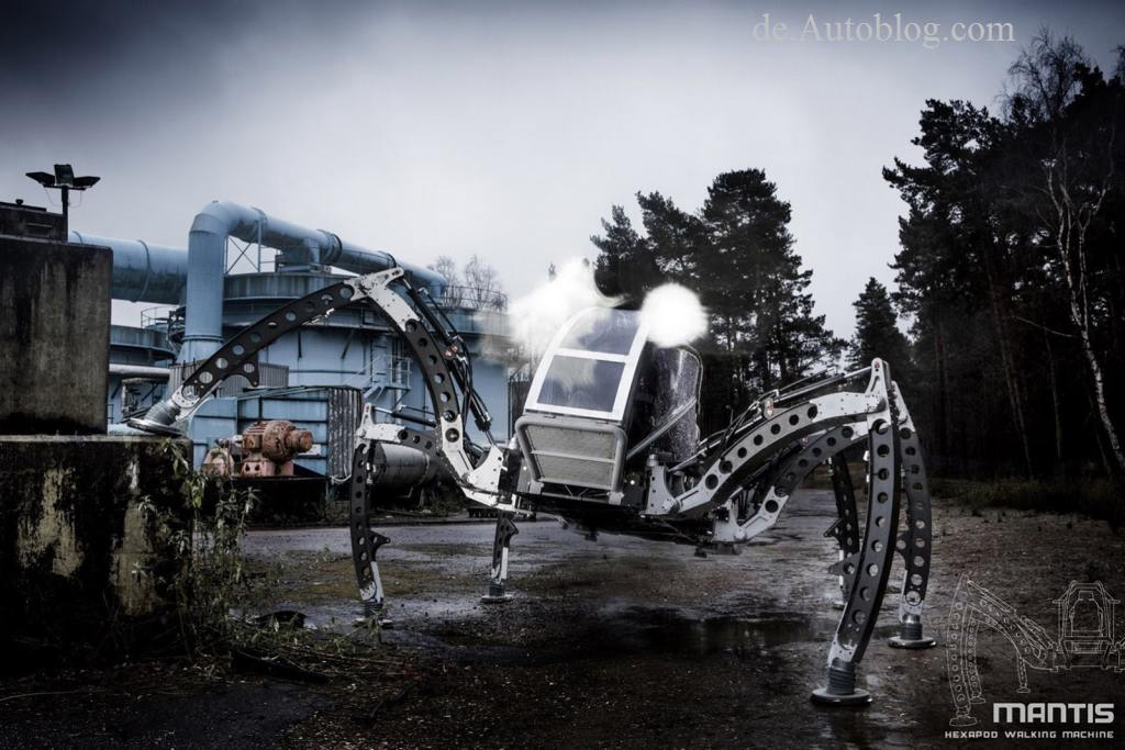 Mantis, spider, hexapod, roboter, robot, all terrain, bizarr, kurios, skurril, funny, komisch, seltsam,