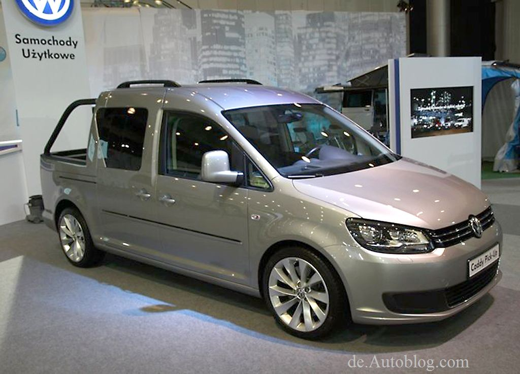 VW Caddy, VW Caddy Pick-Up Concept, Oremiere, weltpremiere, Debüt,