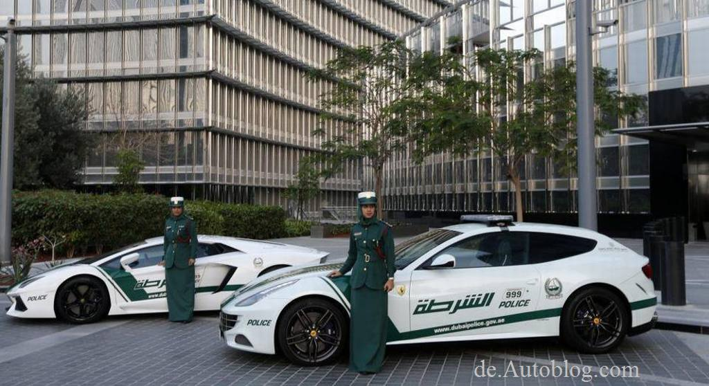Dubai, Police, Polizei, Policecar, Lamborghini, Ferrari, Aston Martin, Supersportwagen fr die Polizei, Supercars, 