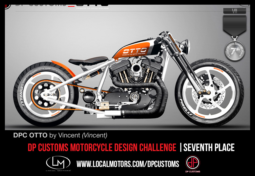 Local Motors, Motorrad, Custom Bike, DP Racer, DP Custom Bike, Design Wettbewerb, challenge, Design, Sieger, Costa, Zweirad, Motorrad, Bilder DPC, 