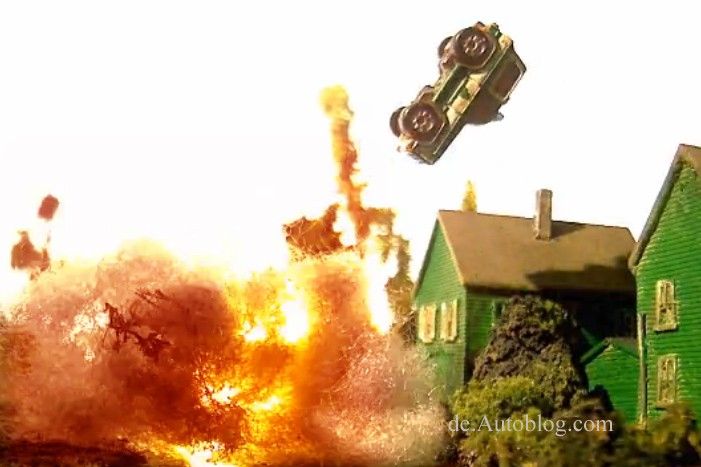 Verfolgungsjagd, car chase, explosion, kino, video, witzig, funny, komisch plastilin, knete, knetmasse, Trickfilm, Kino