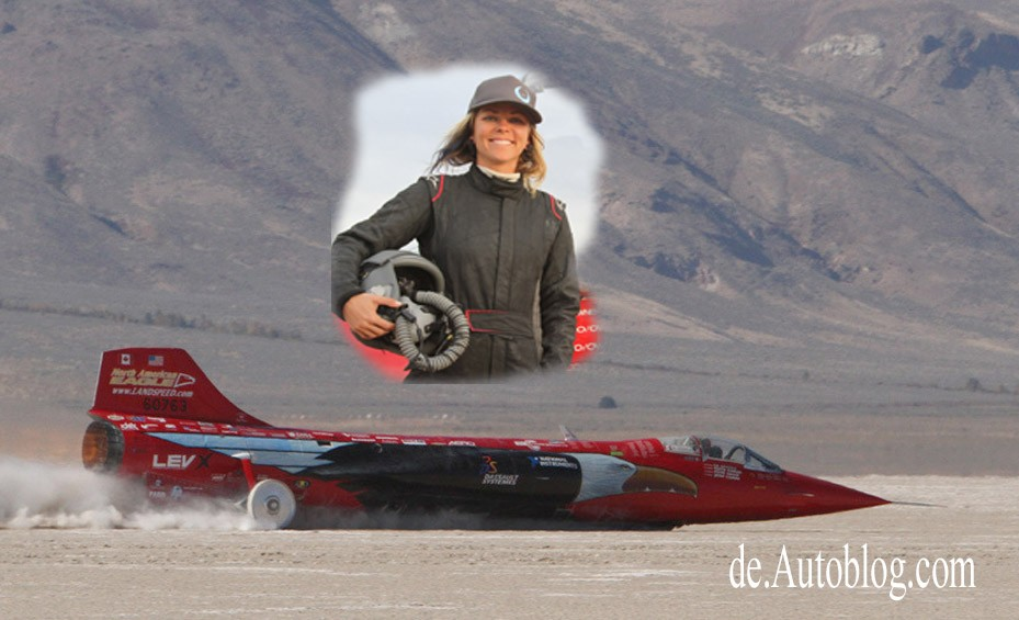 Jessi Combs, Landspeed record, Geschwindigkeitsrekord, autoblog. video, supersonic speed challenger, Landspeed record, Weltrekord, Speed-Rekord, Video