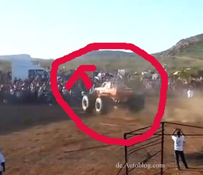 Monster truck, big foot, accident, crash, unfall, video, film, Mexico, Horror, crash, Horror unfall