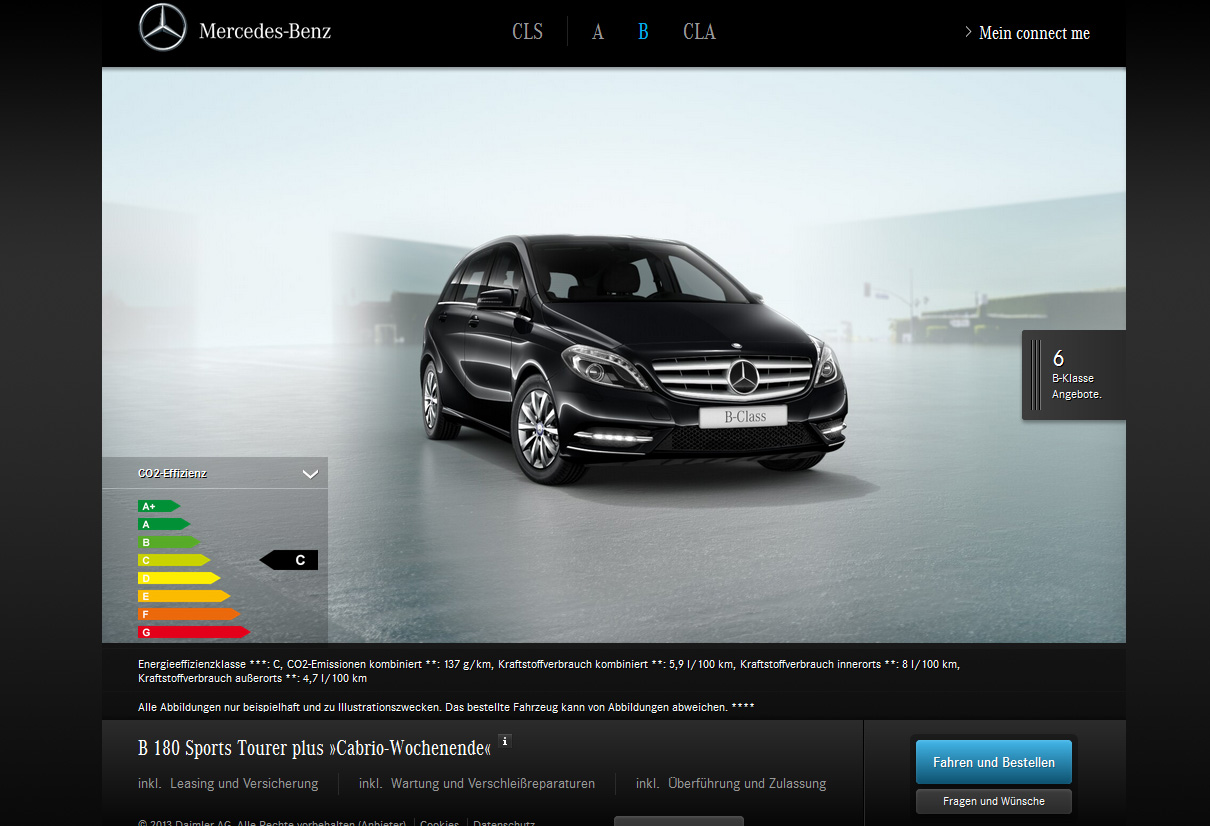 Online neuwagen portal mercedes benz connect me for Mercedes benz com connect