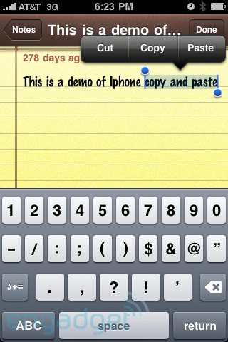 Endlich: Copy & Paste mit dem iPhone!