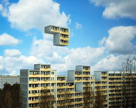 Plattenbau-Tetris in Berlin