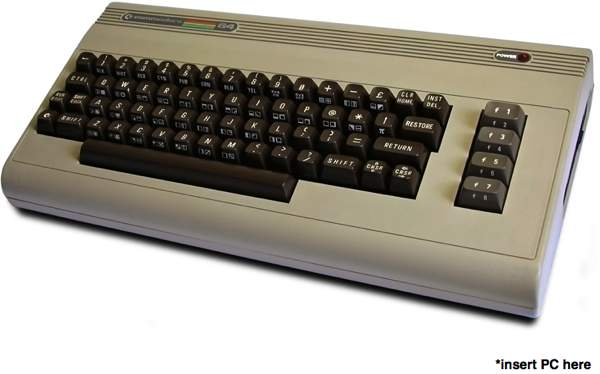 Commodore PC64: Atom-PC in Oldschool Case