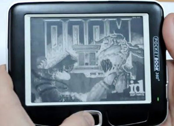 Doom II auf dem PocketBook 360 Plus (Video)