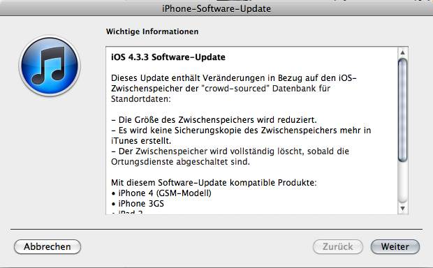 Apple iOS 4.3.3