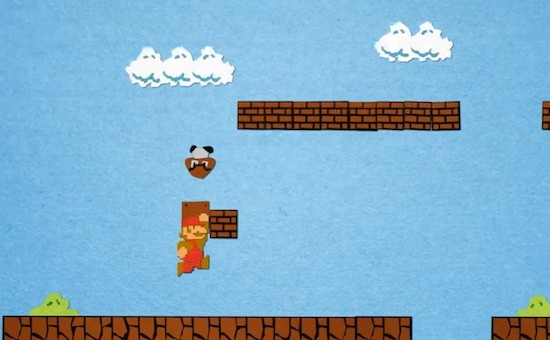 Video: Super Mario Bros in Papier Stop Motion