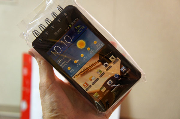 Hands-On: Galaxy Note Notizblock