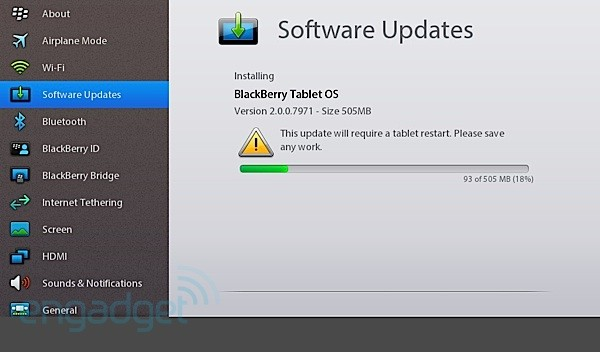 BlackBerry PlayBook OS 2.0 steht zum Download bereit