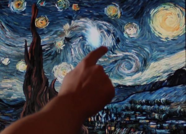 Video: Sternennacht von Vincent van Gogh als interaktive Animation