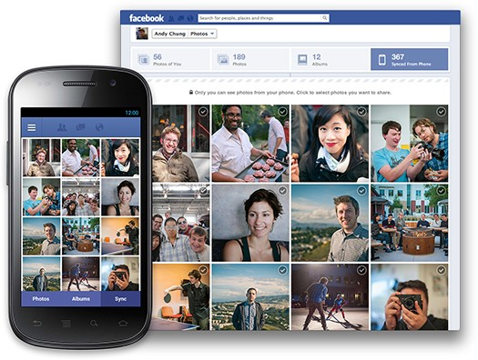 Photo-Sync jetzt auch in Facebooks Android App