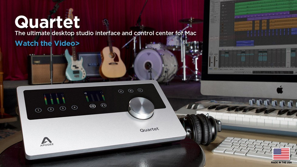 Apogee Quartet: Universelles Audio-Interface für Mac-User