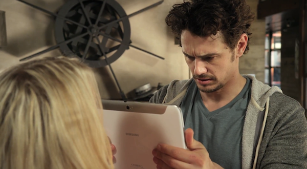 Video: James Franco und sein Galaxy Note 10.1