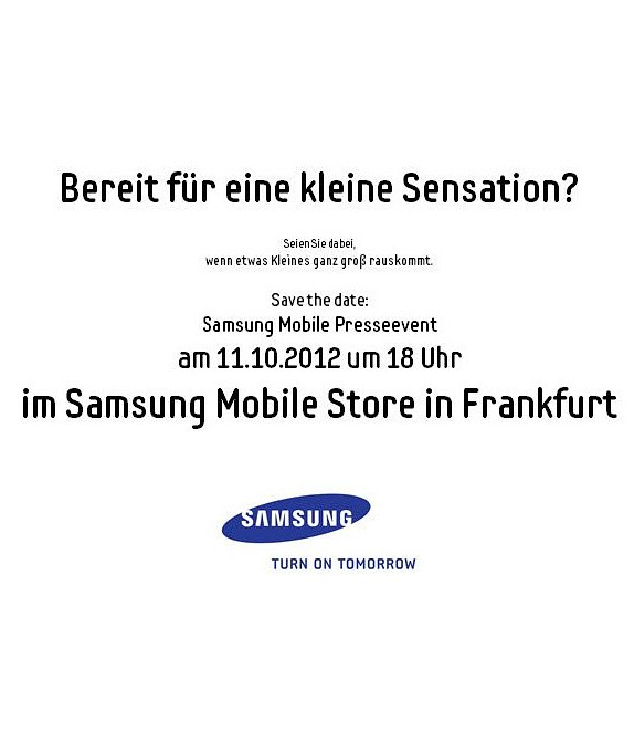 Kündigt Samsung am 11. Oktober in Frankfurt das Galaxy Music an?