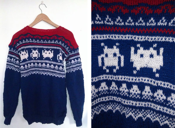 Space-Invaders-Norwegerpulli bringt Winter-Geek-Chic auf den Pixel