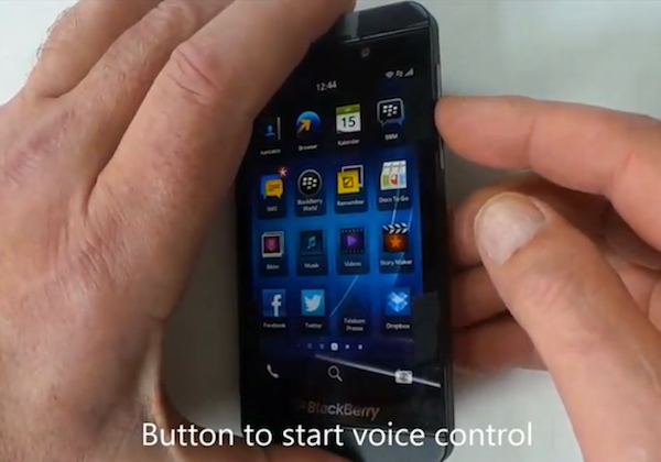Video-Leak: Die Sprachsteuerung bei BlackBerry 10