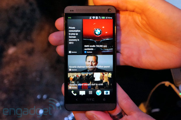 Hands-On: die Software des HTC One mit Sense 5, BlinkFeed, Sense TV (Video)