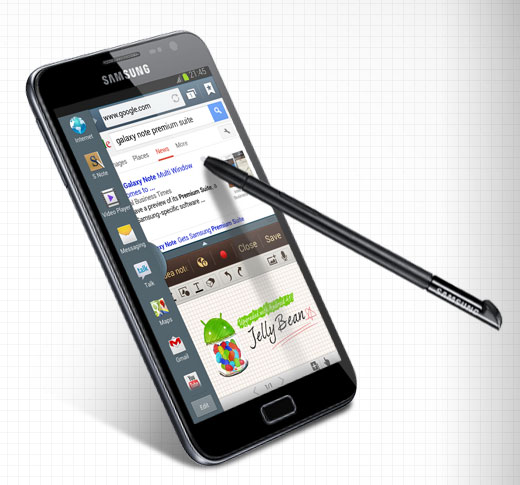 Samsung Galaxy Note bekommt Jelly Bean