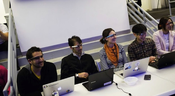 Pioniere mit Brillenvisionen: Fotos vom Google Glass Hackathon