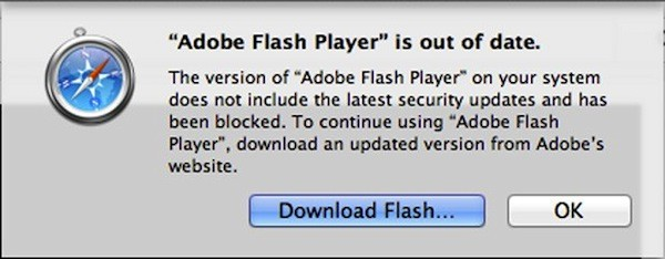 Safari blockt veraltete Versionen von Adobe Flash