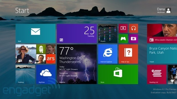 Windows 8.1-Preview Download ist da