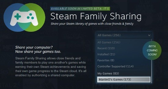 "Steam startet ""Family Sharing"""