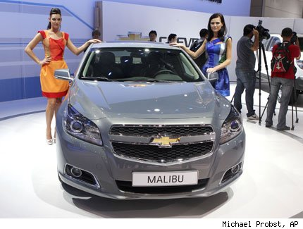 chevrolet malibu auto show frankfurt