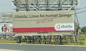 The worlds first Ubuntu billboard?