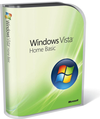 Windows Vista Home Basic packaging