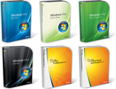New Vista and Office 2007 packaging