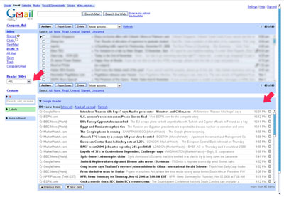 Gmail / Reader integration