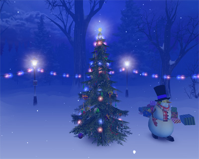 3DPlanesoft christmas screensaver