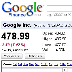 google finance updates