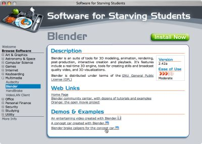 Software for Starving Students