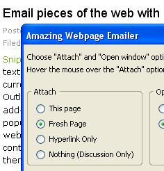 Amazing Webpage Emailer Firefox Add-on