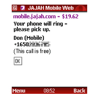 make free mobile calls with jajah mobile web